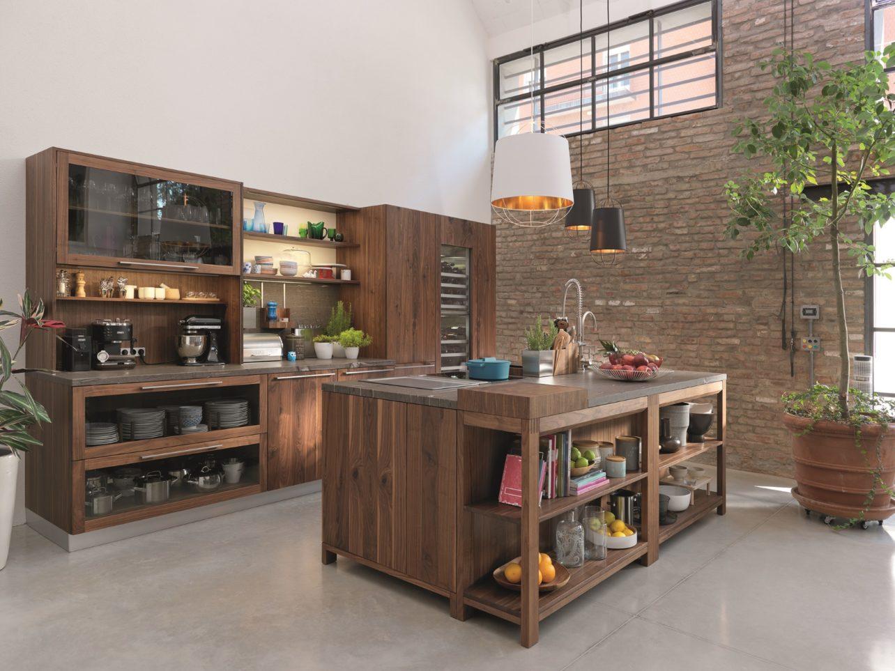 Küche Loft in Walnuss
