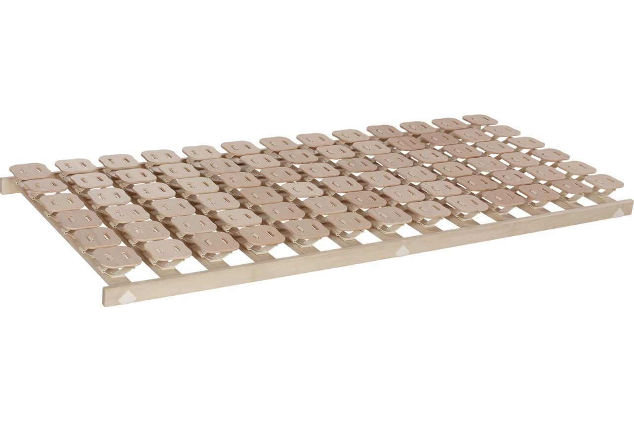 Schlafsystem Relax 3000 mit individueller Körperanpassung durch tellerförmige Federkörper aus Buche. Starr.