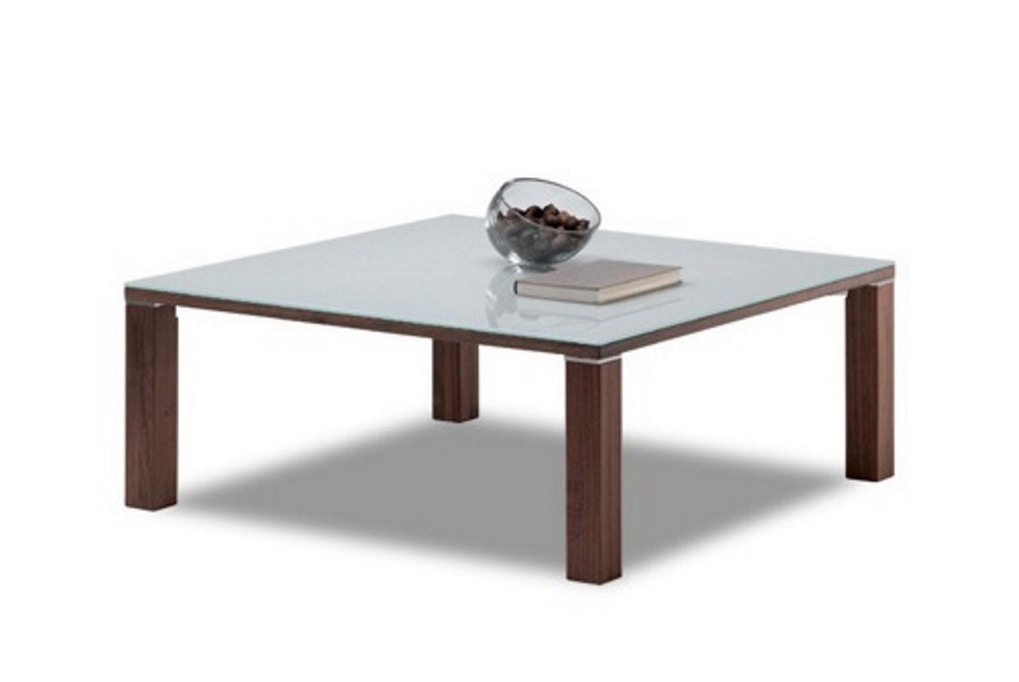 couchtisch cubus in nussbaum mit glasplatte biom bel bonn. Black Bedroom Furniture Sets. Home Design Ideas
