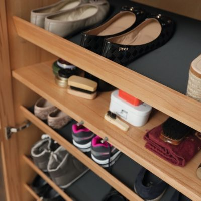 Diele cubus mit Schuhfacheinteilung