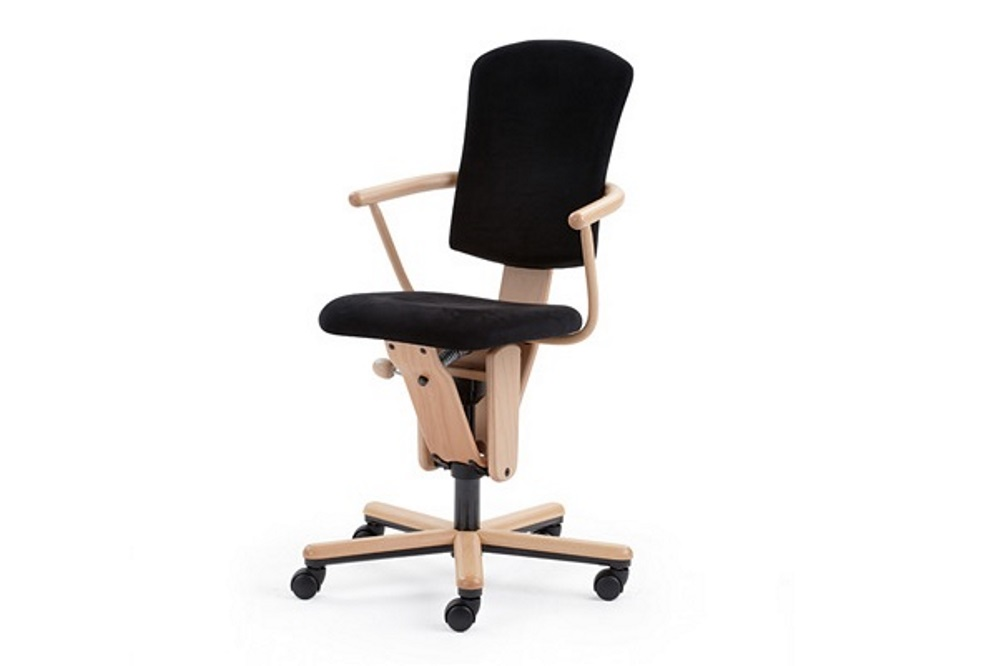 Bürostuhl M18 höhenverstellbar, drehbar und mit einer wählbaren Schwingfunktion