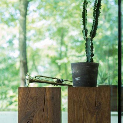 Naturholzzylinder in Eiche geräuchert