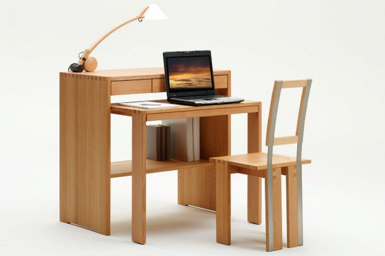 Schreibtisch zen in Kernbuche