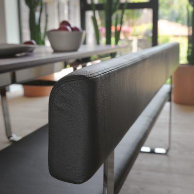 Sitzbank nox mit Rückenlehne in Leder