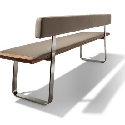 Sitzbank nox mit Rückenlehne von schräg hinten