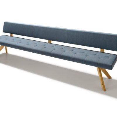 Sitzbank yps mit Rückenlehne und Stoffbezug