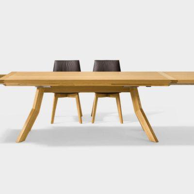 Tisch yps mit Bestecklade und Einlegeplatte in Kombination