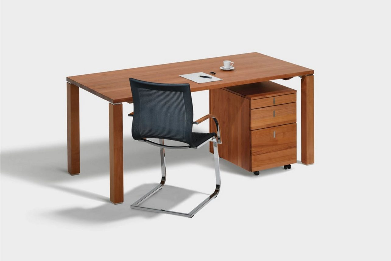 Schreibtisch cubus mit Rollcontainer cubus
