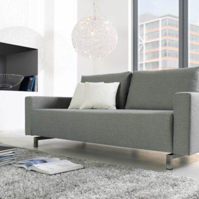 Sofasystem Giglio als 2,5-Sitzer mit Edelstahl-Kufen