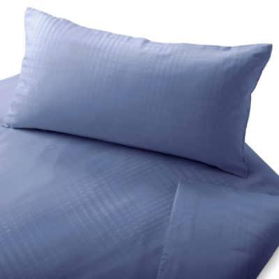 Damastbettwäsche mit gewebtem Karomuster aus 100% Bio-Baumwolle (kbA)