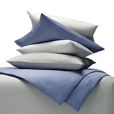 Damastbettwäsche mit gewebten Streifen aus 100% Bio-Baumwolle (kbA)