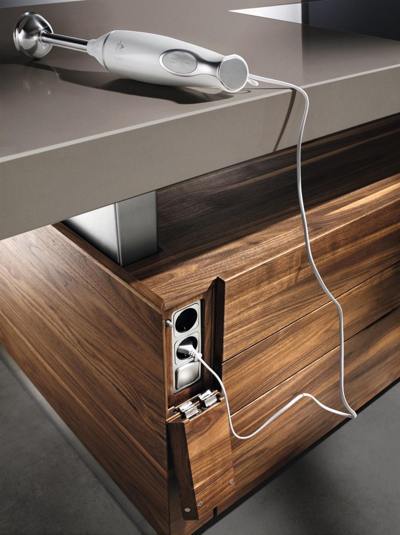 versenkbare steckdose k che haus design ideen. Black Bedroom Furniture Sets. Home Design Ideas