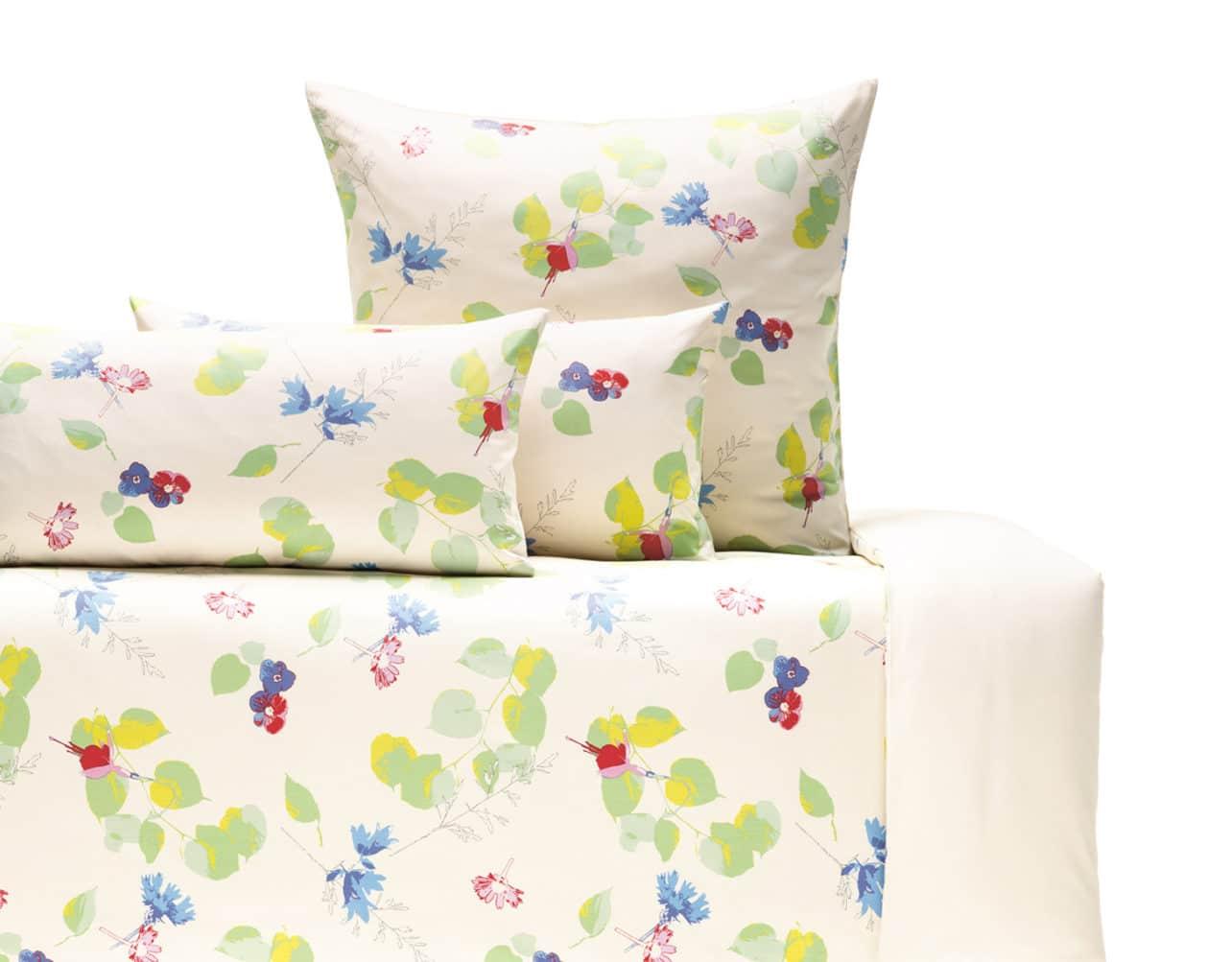 Bettwäsche Satin Flora aus kbA Baumwolle