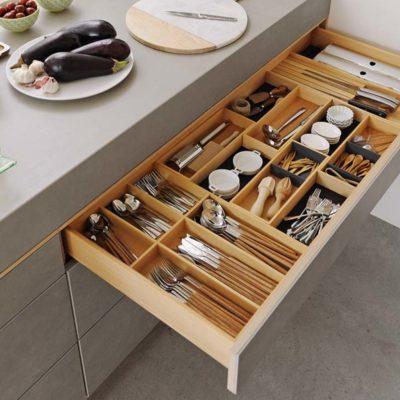 Küche filigno-Detail Ladeneinteilung