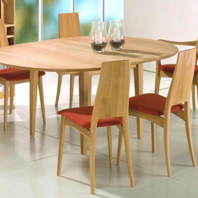 Massivholzstühle Julia 1 mit gepolstertem Sitz, Ausführung Buche