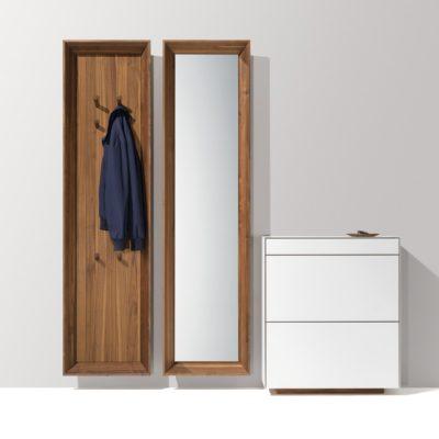 haiku Garderobenpaneel, Spiegelpaneel und Schuhklappenschrank