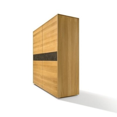 Highboard filigno in Eiche und Keramik