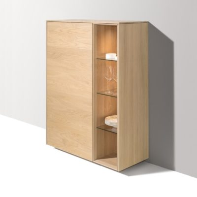Highboard filigno in Eiche-Weiss