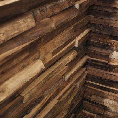 Wandverkleidung Waldkante in Nussbaum-Innengehrung