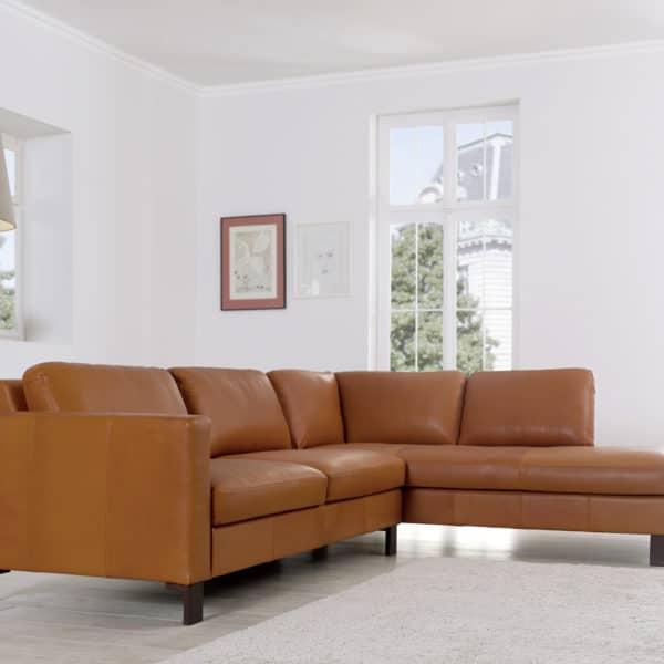 Sofasystem Siena 2,5-Sitzer in Ecopell Leder