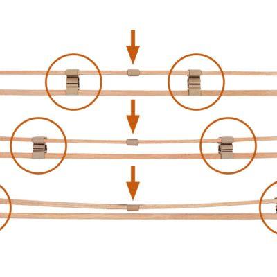 Federschiene Set-15 mit einstellbaren Härtegraden