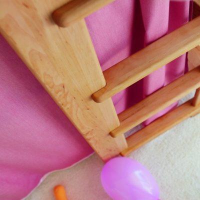Mittelbett mit Leiter, alles ohne Ecken und Kanten