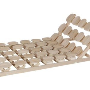 Schlafsystem Relax 2000 mit individueller Körperanpassung durch tellerförmige Federkörper aus Zirbenholz oder Buche. Mit Sitzhochstellung.