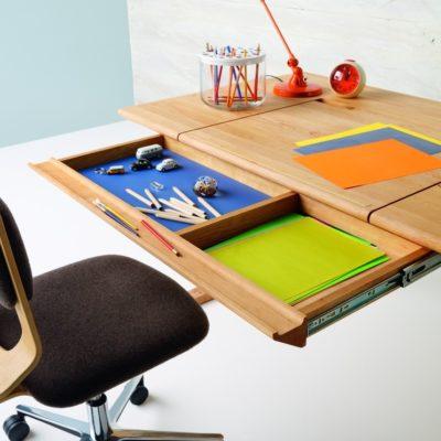Schreibtisch MOBILE, Schublade mit Vollauszug