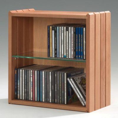 Stapelbox DVD mit Glasfachboden