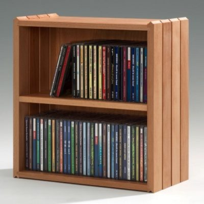 Stapelbox DVD mit Holzfachboden