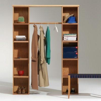 Stapelbox Garderobe mit Abdeckung Ahornplatten
