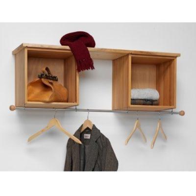 Stapelbox Garderobe mit Edelstahlstange