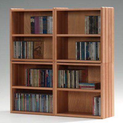Stapelboxen DVD mit Holzfachboden