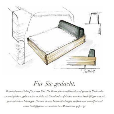 Bett nox: Der Entwurf