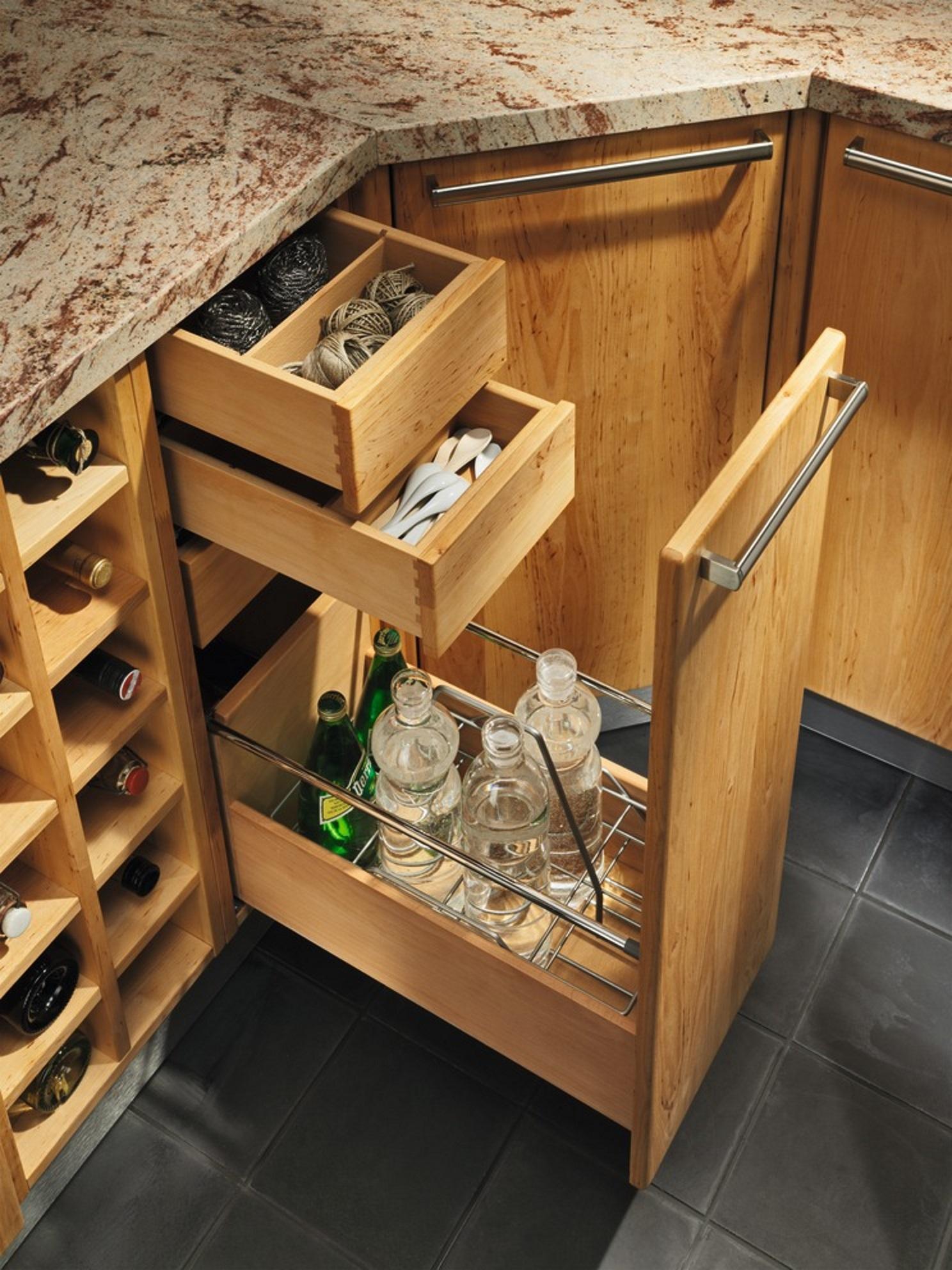 Küche Flaschenauszug | Kuche Rondo Erle Biomobel Bonn