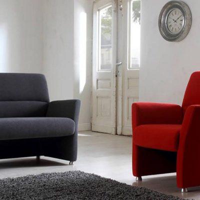 2-Sitzer Sofa und Sessel Nossa