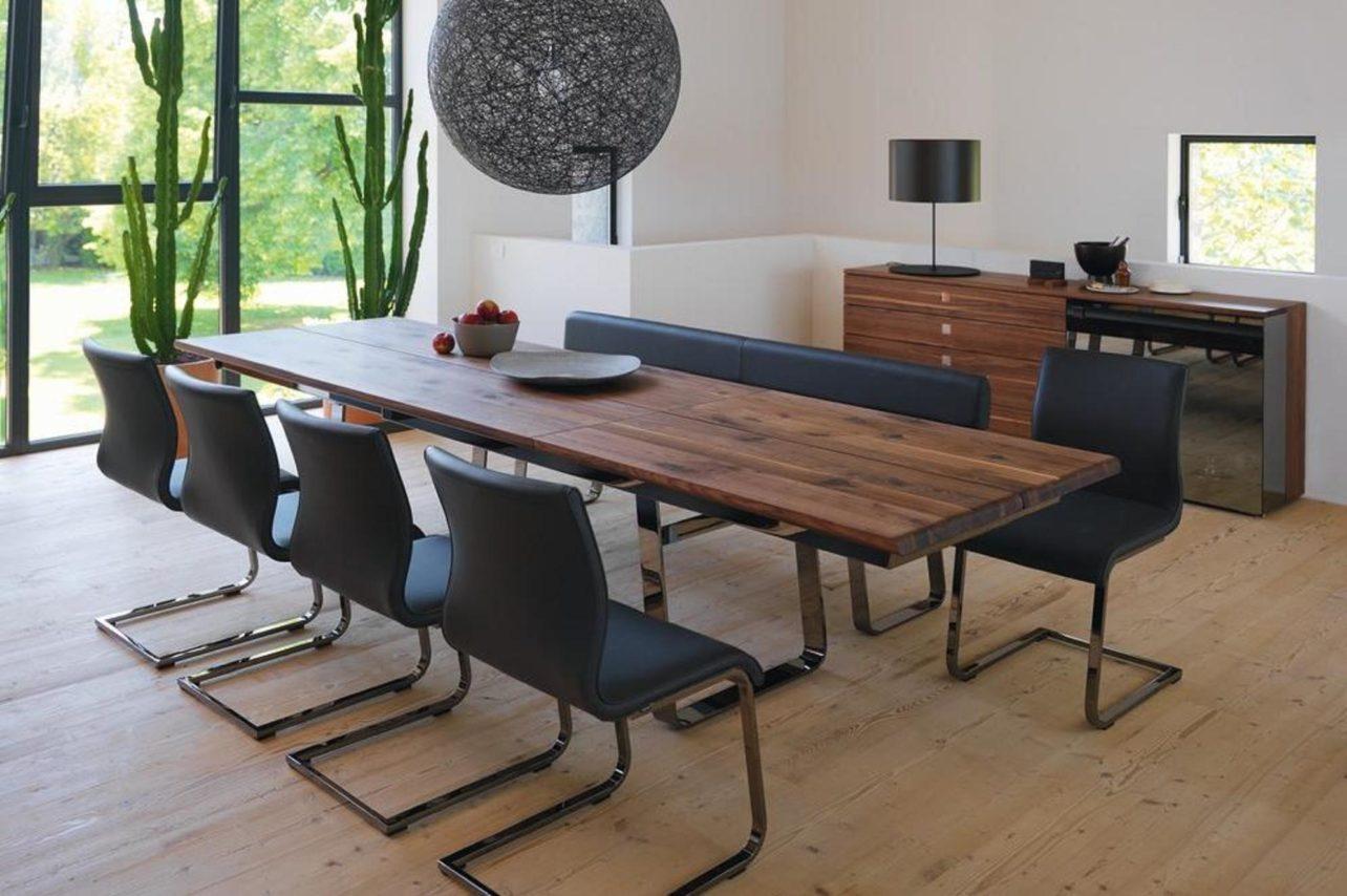 Tisch nox als Auszugstisch in Nussbaum Wild