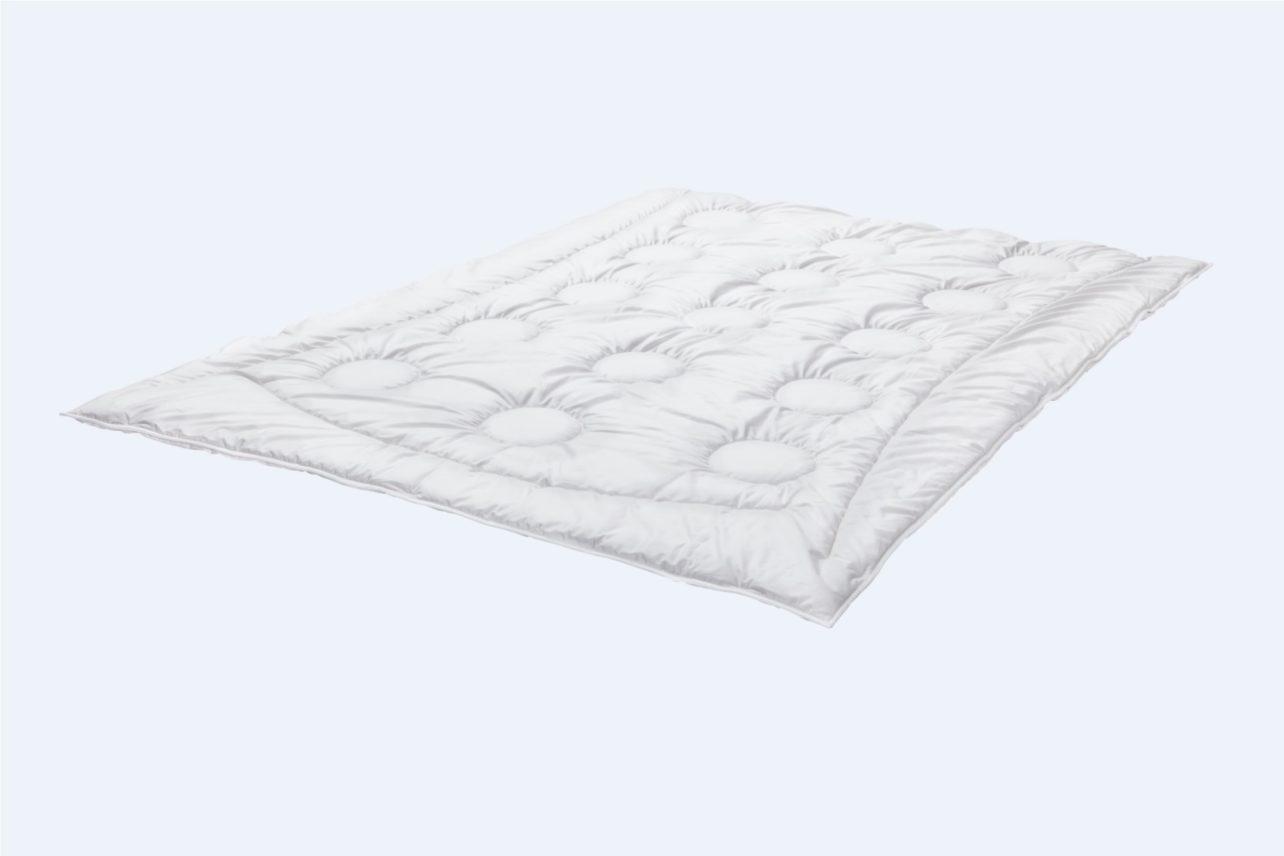 Ganzjahres - Zudecke Wolle-Satin