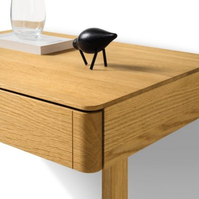 Nachttisch float ganz in Holz mit Kufe
