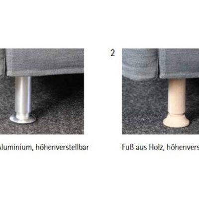Optional: höhenverstellbare Füße-Sofasystem Giglio