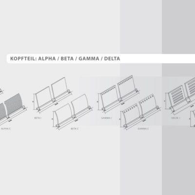 Bett Quattro mit 8 Kopfteilvarianten