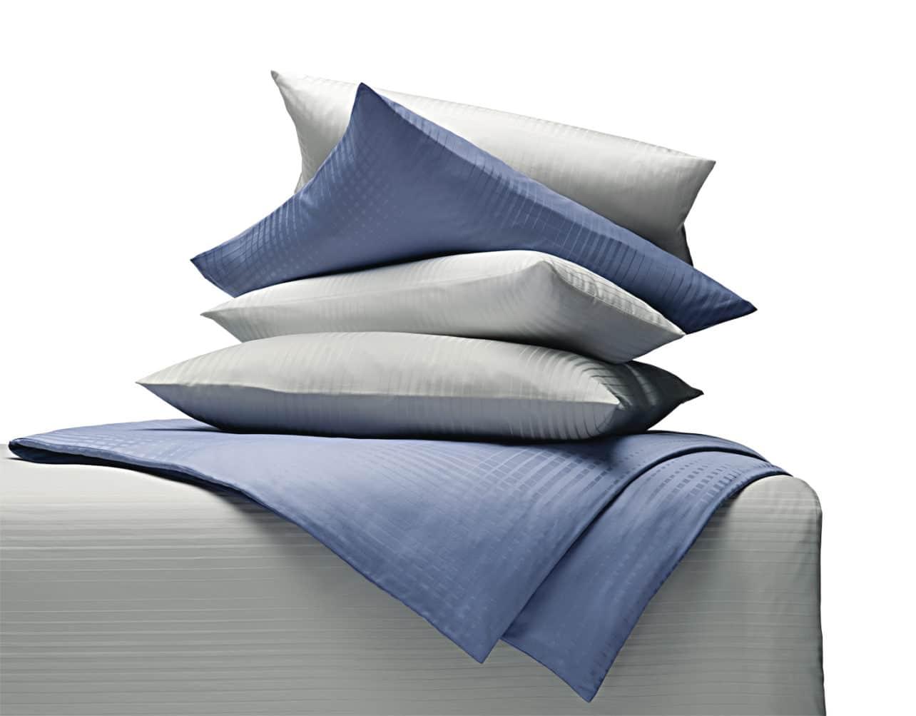 Bettwäsche Damast Zoom Streifen mit gewebten Streifen aus 100% Bio-Baumwolle (kbA)