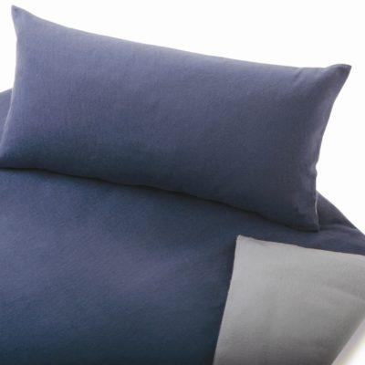 Edelbiberbettwäsche uni oder Wende, aus 100% Bio-Baumwolle (kbA)