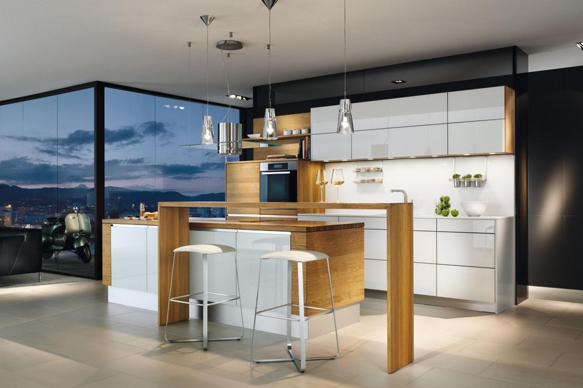 Küche linee in weiss - Biomöbel Bonn