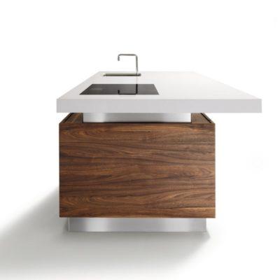 Kücheninsel k7 mit stufenlos höhenverstellbarer Arbeitsplatte