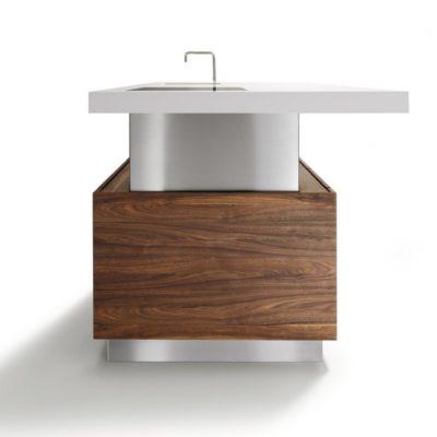 Kücheninsel k7 mit einer Arbeitsplattenstärke von 9 cm