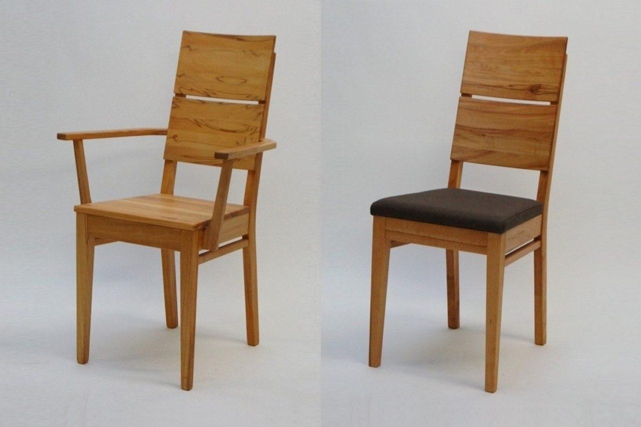 Stuhl Lucca in Kernbuche mit und ohne Armlehnen sowie mit und ohne Polstersitz