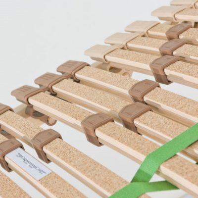 Trio Basic Plus mit Federholzleisten aus Buche und Auflage aus echtem Kork in Kautschukkappen