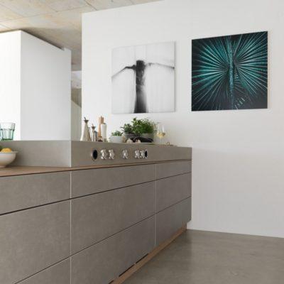 Küche filigno mit Eichen- und Keramikfronten