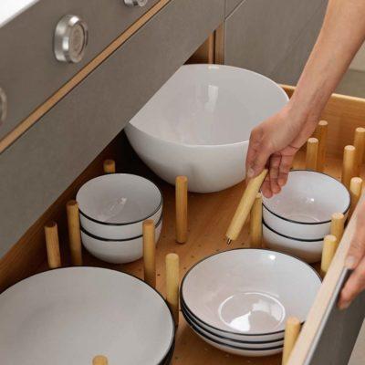 Küche filigno mit Geschirrlade